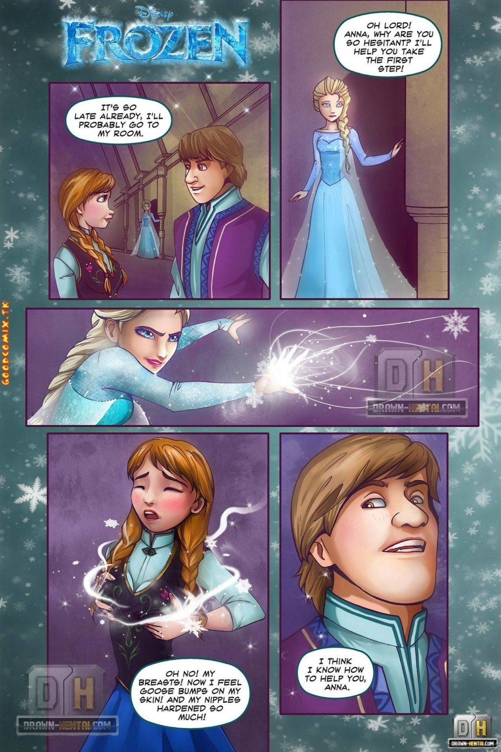 Comic-Condom-Cartoon-Porn-Hentai-manga-Disney-Princess-lesbian-Frozen-Threesome-Elsa-Full-Color-famous-characters
